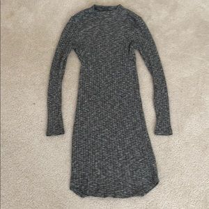 abercrombie and fitch ribbed mock neck dress